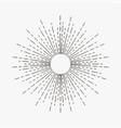 vintage sunburst linear sun rays starburst vector image