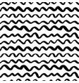wavy grunge black lines seamless pattern vector image vector image