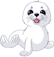 White Seal vector image vector image