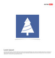 x-mas tree icon - blue photo frame vector image