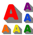 letter a sign design template element set of red vector image