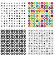 100 education technology icons set variant vector image