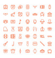 49 classic icons vector image vector image