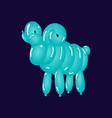 animal ram balloons balloon animals vector image vector image