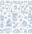 antibiotic resistance blue seamless pattern vector image vector image