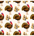 Autumn cute seamless pattern with turkey birds