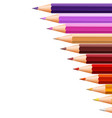 background design with color pencils on the right vector image vector image
