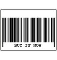 barcode sign black icon on vector image vector image