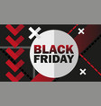 black friday sale advertisement vector image
