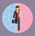 businesswoman and mother career and motherhood vector image