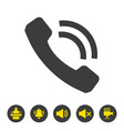 call icon on white background vector image