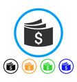 checkbook rounded icon vector image vector image