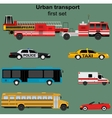 Collection of municipal transport vector image