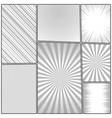 comic book monochrome design template vector image vector image