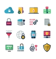 Data Encryption Icons vector image vector image