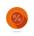 Discount percent icon Sale sign vector image vector image