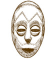 engraving of african mask vector image