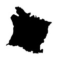 france province picarde map silhouette vector image vector image