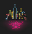 fresh cocktail bar neon sign vector image