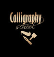 golden lettering logo design for art company vector image