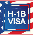 h1b visa usa page for class r vector image