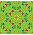 hand drawn tulips seamless pattern can be used vector image vector image