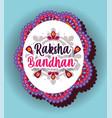 happy raksha bandhan banner design vector image