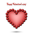 happy valentines day heart from the cricket balls vector image