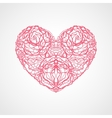 heart flowers roses vector image vector image