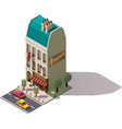 isometric Paris building vector image vector image