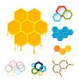 linear hexagon design elements different vector image