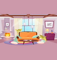 living room interior flat coffee table near vector image vector image