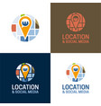 location and social media vector image