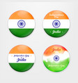 made in india collection of badges vector image vector image