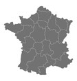 map of France with regions vector image