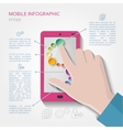 Mobile infographic concept vector image