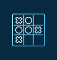 noughts and crosses colored linear icon tic tac vector image