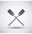 Oars Icon vector image