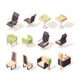 office chairs modern furniture chairs and vector image
