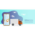online express delivery concept truck delivery vector image