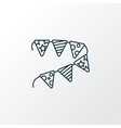 paper garland icon line symbol premium quality vector image vector image