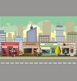 people walking in street city vector image