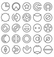 Round experimental icons vector image vector image