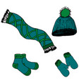 scarf hat mittens socks vector image
