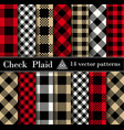 set check plaid seamless patterns backgrounds vector image vector image