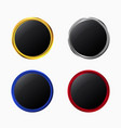 set of glossy luxury buttons vector image