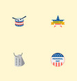 set of memorial icons flat style symbols with vector image