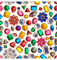 set of realistic precious stones jewels vector image