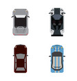 Set of top views of cars