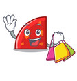 shopping quadrant character cartoon style vector image vector image
